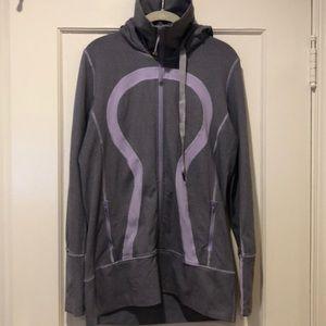 Lululemon Lavender and Gray Zip-Up Hoodie - 12
